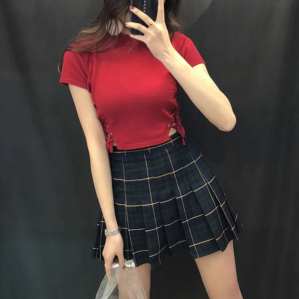 Sexy Plaid Skirt