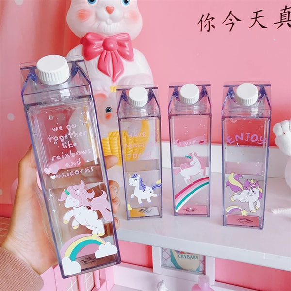 Cute Unicorn Milk Bottle