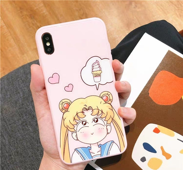 Sweet Girl Phone Case For Iphone6/6S/6P/7/7P/8/8plus/X/XS/XR/Xs max