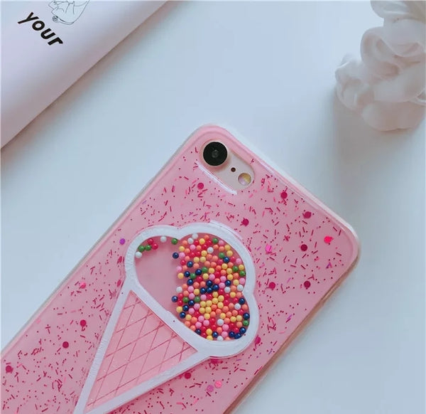 Ice Cream Phone Case For Iphone6/6s/6p/7/7plus/8/8plus/X