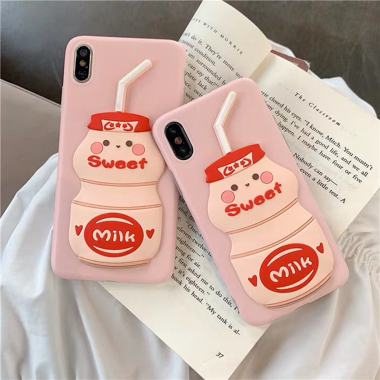 Sweet Milk Phone Case For Iphone6/6s/6p/7/8/7/8plus/X/XS/XR/XSmax