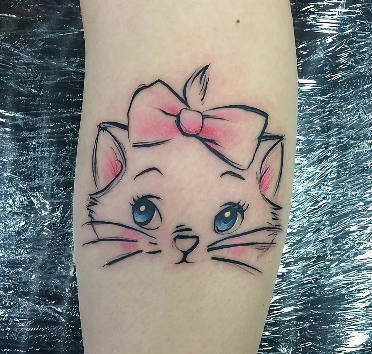 Kawaii Kitty Tattoo Sticker