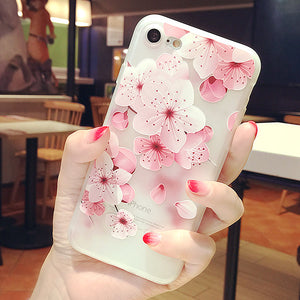 Flowers Phone Case For Iphone6/6s/6p/7/7plus/8/8plus