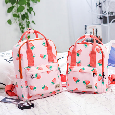 Strawberry Printed Bag