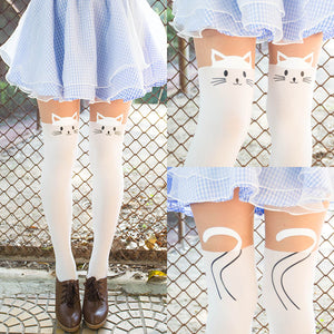 Kawaii Kitty Pantyhose