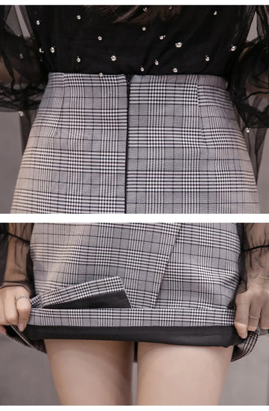 Fashion Plaid Skirt