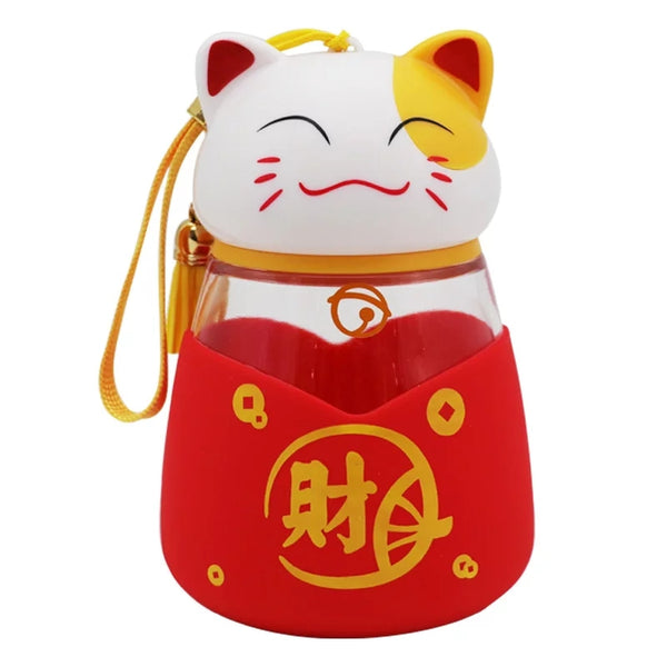 Money Cat Drinking Bottle