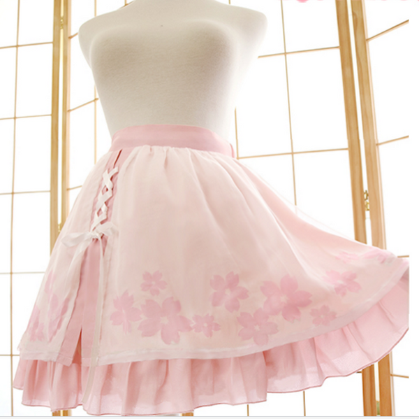 Sweet  Sakura Skirt