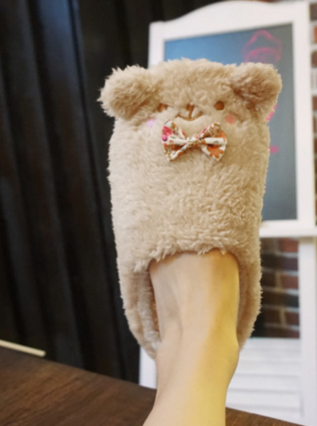 Kawaii Bear Plush Slippers