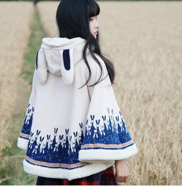 Cute Rabbit Cloak Coat