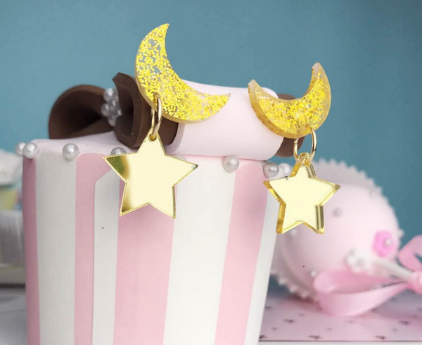 Cute Moon Earrings