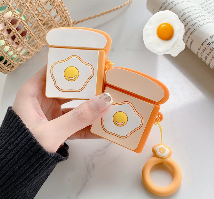 Poached Egg Airpods Protector Case For Iphone
