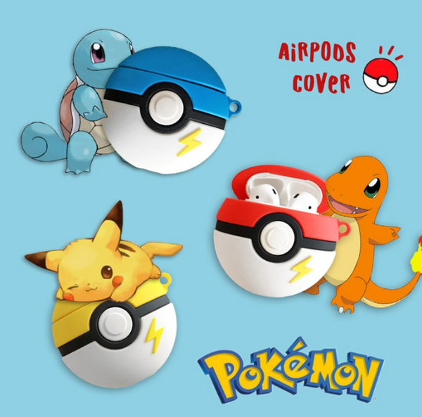 Poke Ball Airpods Protector Case For Iphone