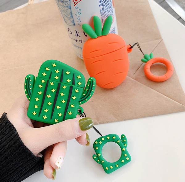 Carrots And Cactus Airpods Protector Case For Iphone