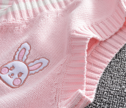 Kawaii Rabbit Knitted Vest