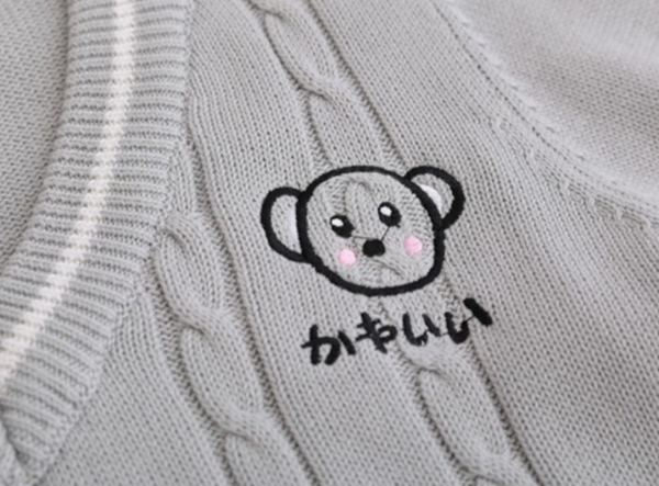 Cute Bear Knitted Sweater
