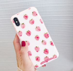 Little Strawberry Phone Case For Iphone6/6S/6Plus/7/7Plus8/8plus/X/XS/XR/XSmax
