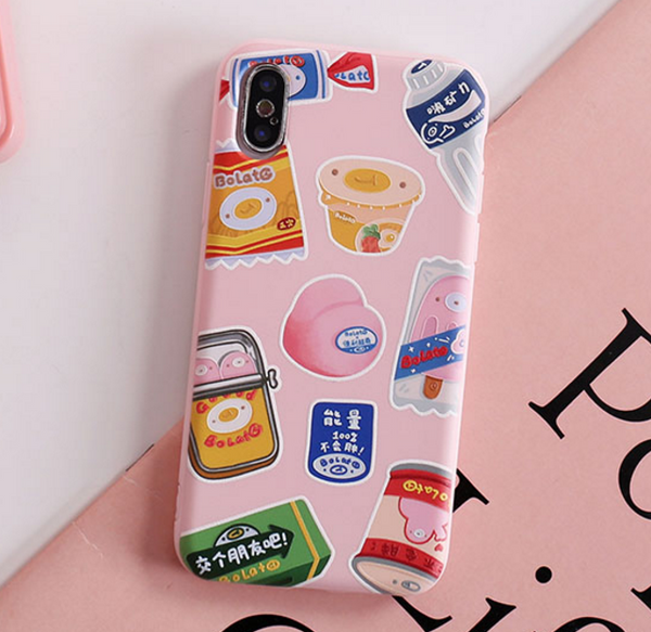 Snacks Phone Case For Iphone6/6s/6p/7/8/7/8plus/X/XS/XR/XSmax
