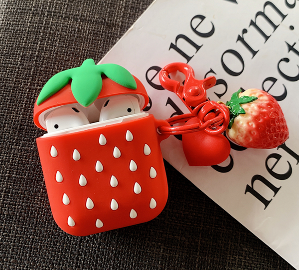 Strawberry Airpods Protector Case For Iphone