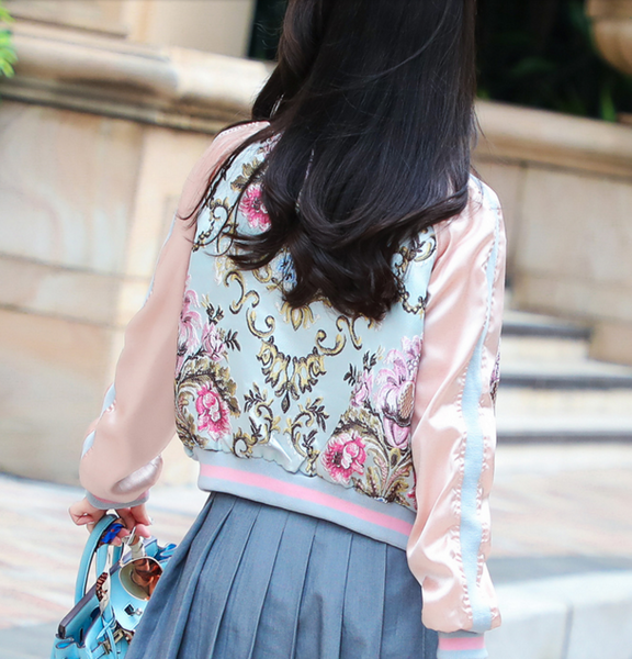 Flowers Embroidery Coat