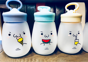 Kawaii Kaomoji Glass Bottle