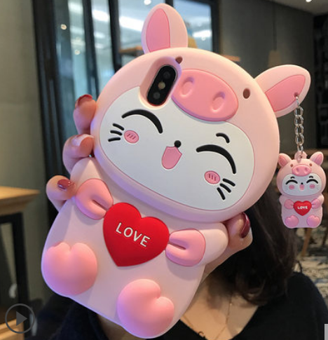 Love Cat Phone Case For Iphone6/6S/6P/7/7P/8/8plus/X/XS/XR/Xs max