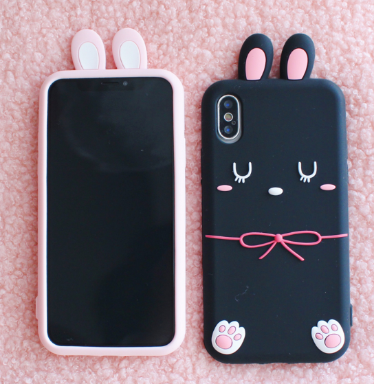 Sleepy Rabbit Phone Case For Iphone6/6S/6P/7/7P/8/8plus/X/XS/XR/XSmax
