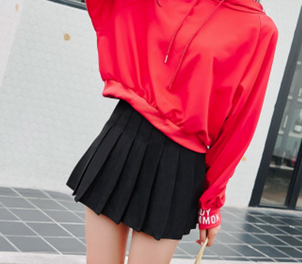 Cute Pure Color Skirt