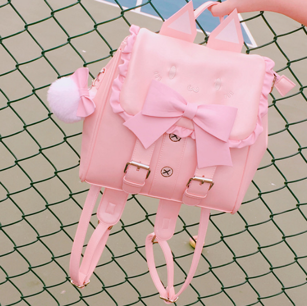 Cute Bowknot Cat Backpack