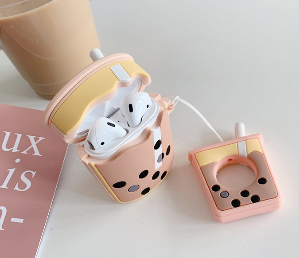 Milk Tea Airpods Protector Case For Iphone