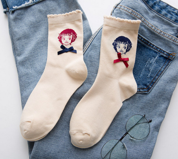 Bowknot Girl Socks