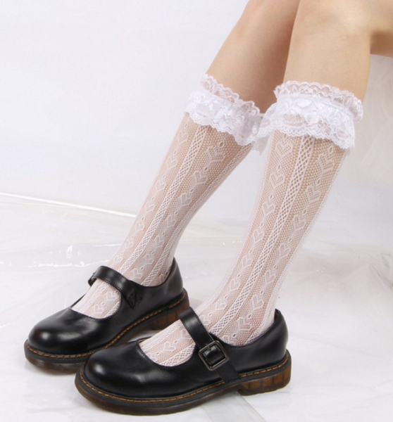 Lace Flower Socks