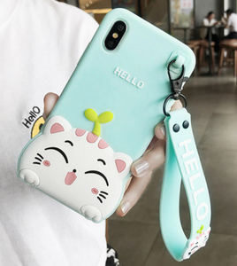 Hello Cat Phone Case For Iphone6/6S/6Plus/7/7Plus8/8plus/X