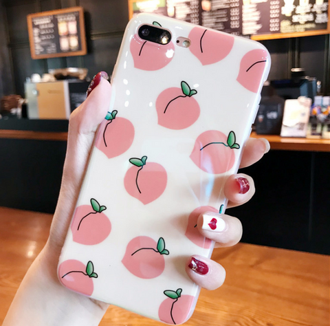Peach Phone Case For Iphone6/6S/6P/7/7P/8/8plus/X/XS/XR/XSmax