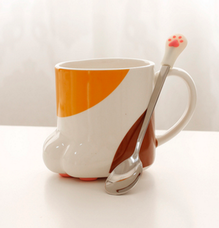 Kawaii Cat Paw Cup