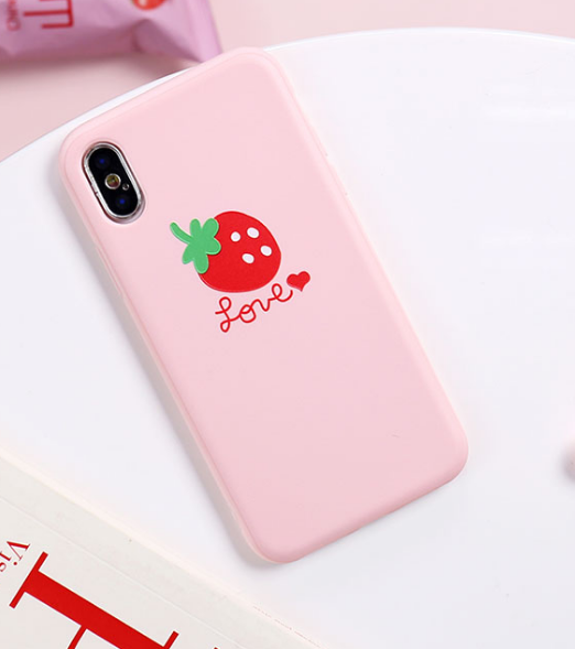 Strawberry Phone Case For Iphone6/6S/6P/7/7P/8/8plus/X/XS/XR/Xs max