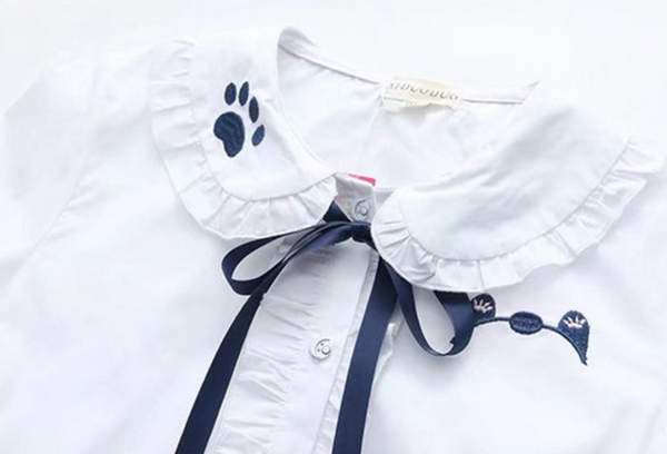 Embroidery Paw Shirt