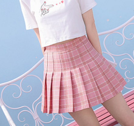 Kawaii Plaid Skirt
