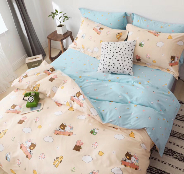 Rabbit And Bear Bedding Set