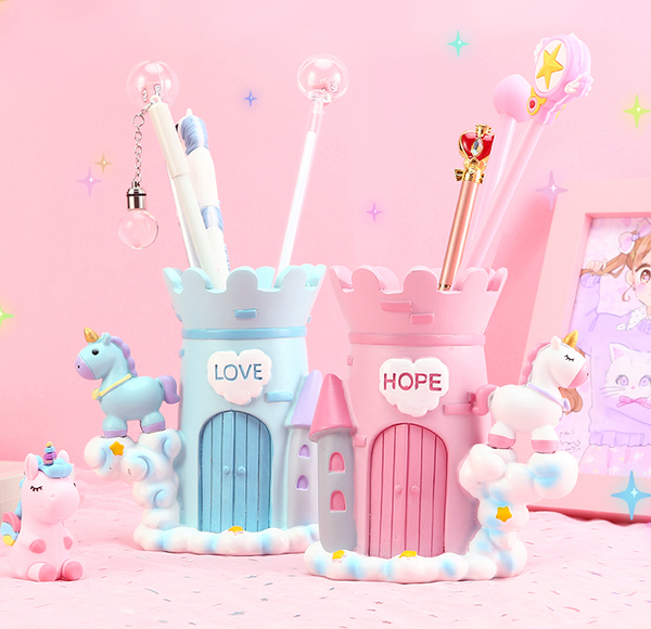 Kawaii Unicorn Brush Pot