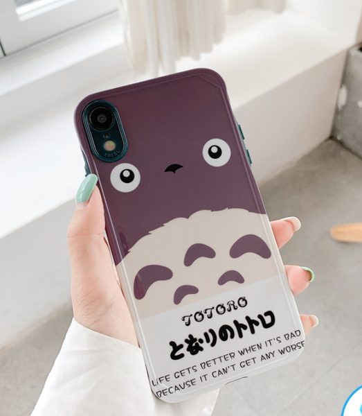 Totoro Phone Case For Iphone7/7P/8/8plus/X/XS/XR/Xs max/11/11pro/11pro max/SE