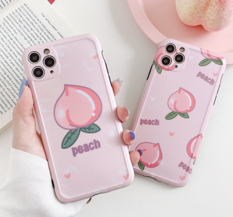 Peach Phone Case For Iphone7/7P/8/8plus/X/XS/XR/XSmax/11/11pro/11proMax/SE