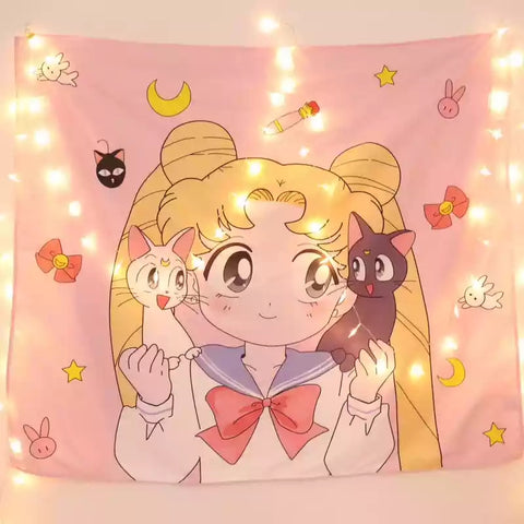 Kawaii Usagi Bedside Cloth