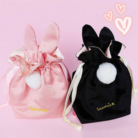 Sweet Rabbit Ears Pocket Makeup Bag