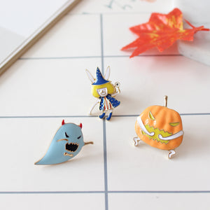 Pumpkin Brooch Pin
