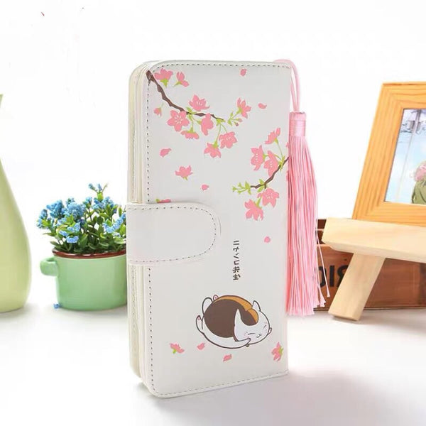 Sakura Cat Teacher Wallet