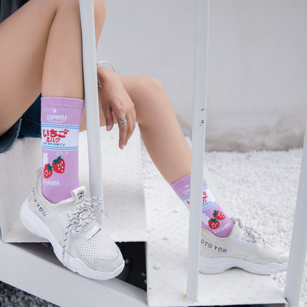 Lovely Strawberry Milk Socks