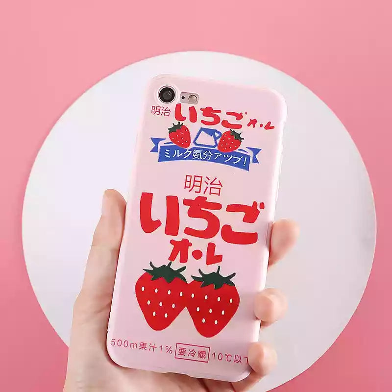 Strawberry Cake Phone Case For Iphone6/6s/6p/7/8/7/8plus/X/XS/XR/XSmax