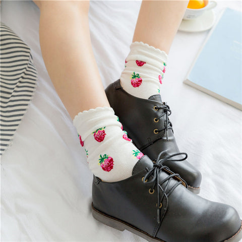 Lace Strawberry Socks