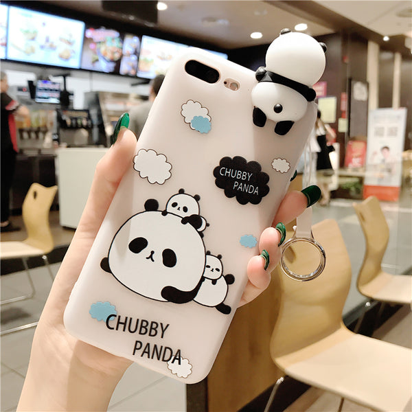 Lovely Panda Phone Case For Iphone6/6s/6p/7/7plus
